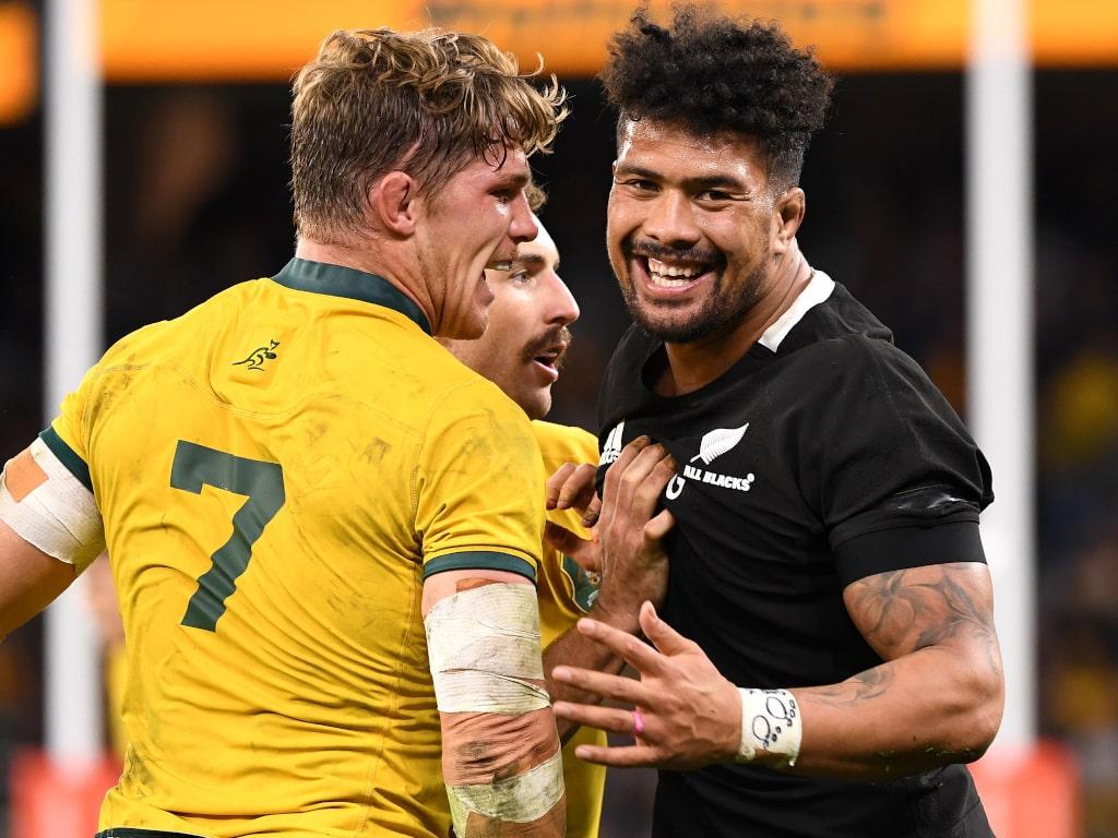 Michael Hooper And Ardie Savea In Australia V New Zealand Clash Pa