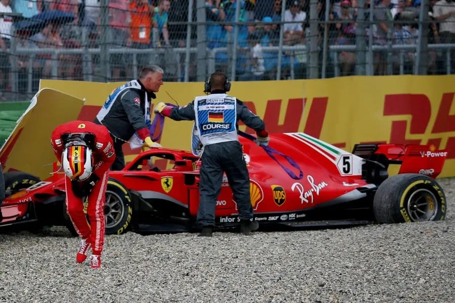 Crashes In Races Like Germany 2018 Destroyed Vettel'S Championship Campaigns At Ferrari