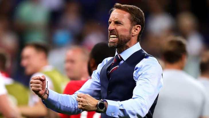 Gareth Southgate Celebrates England Win