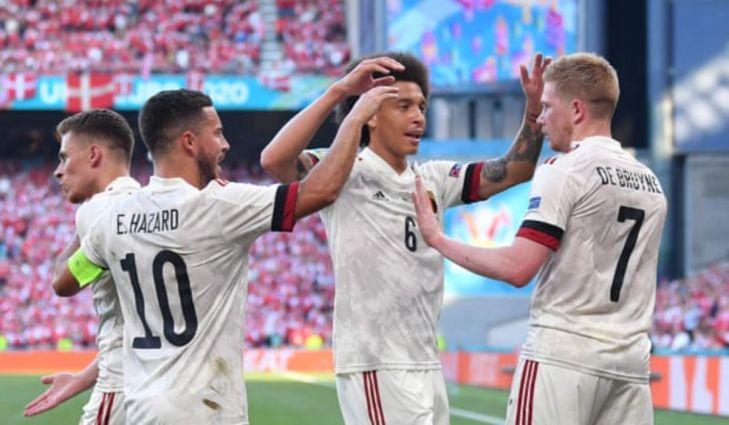 Kevin De Bruyne Celebrates After Scoring The Winning Goal For Belgium