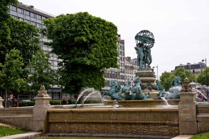 Fountain of Observatory in Luxembourg Garden