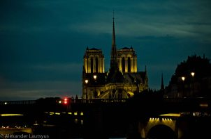 Night, Notre-Dame, Paris