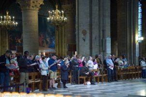 Worship in Notre-Dame, Paris