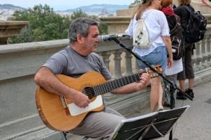 Musician at Plaça d'Espanya, Barcelona