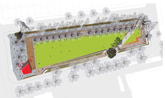 Gillespies Plan - © Gillespies Landscape Architects