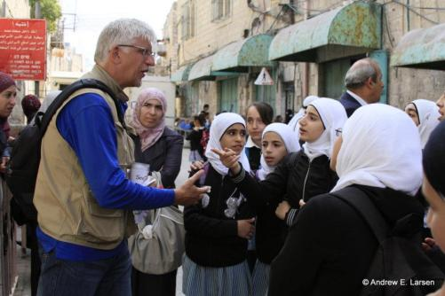 Students in Hebron