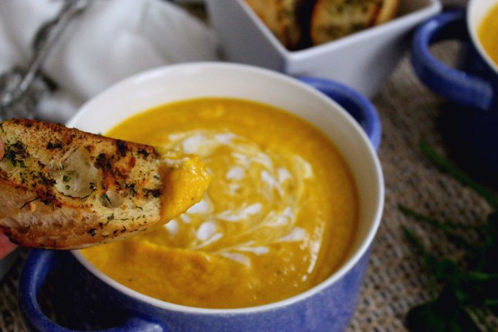 Butternut Squash and Leek Soup (Vegan soup)