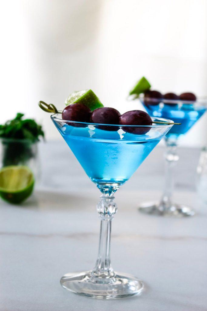 cyan blue cocktail