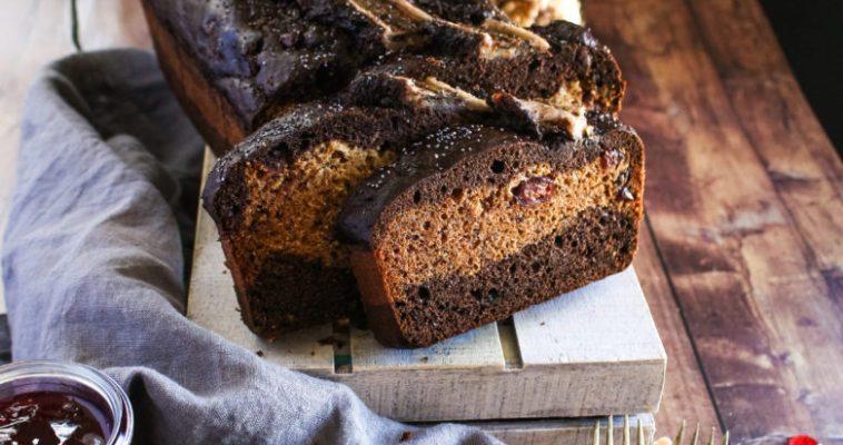 WHOLE WHEAT CHOCOLATE POPPYSEED BANANA BREAD
