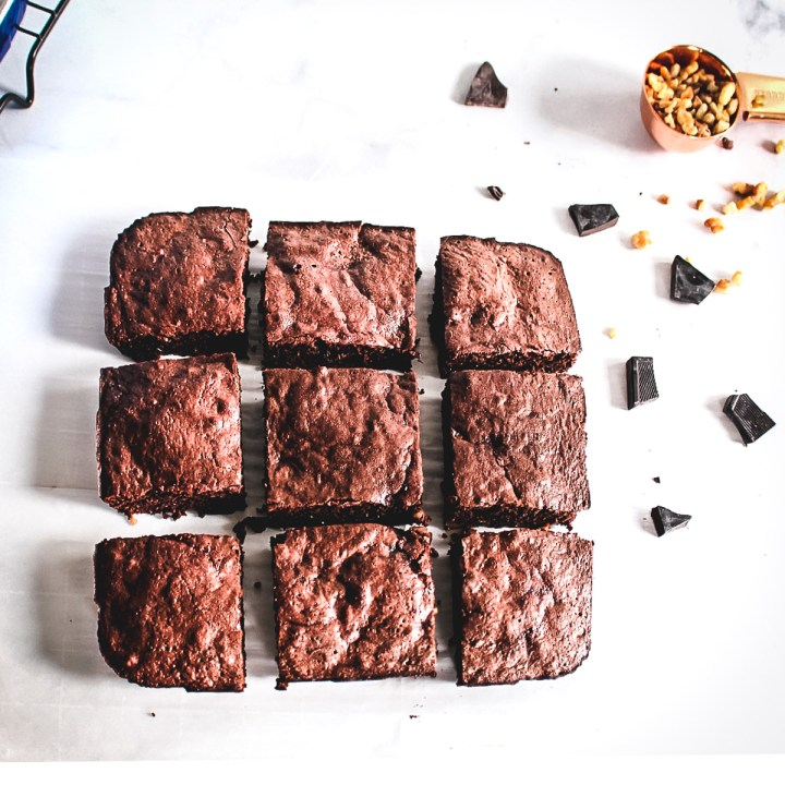 Double chocolate Zucchini & beets Fudgy brownie squares