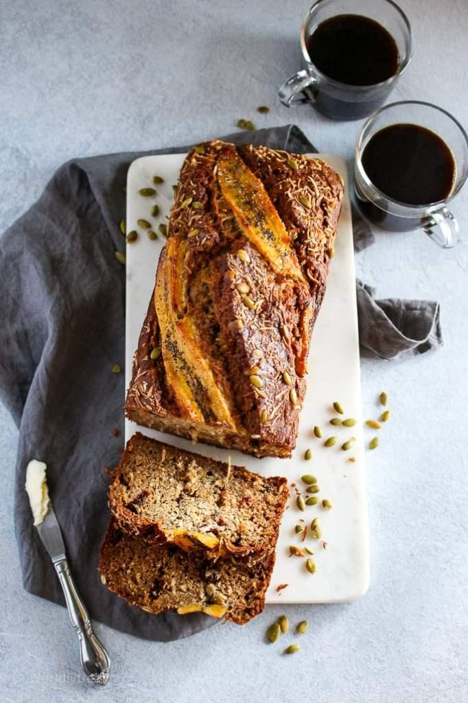 Nutty Plantain Bread