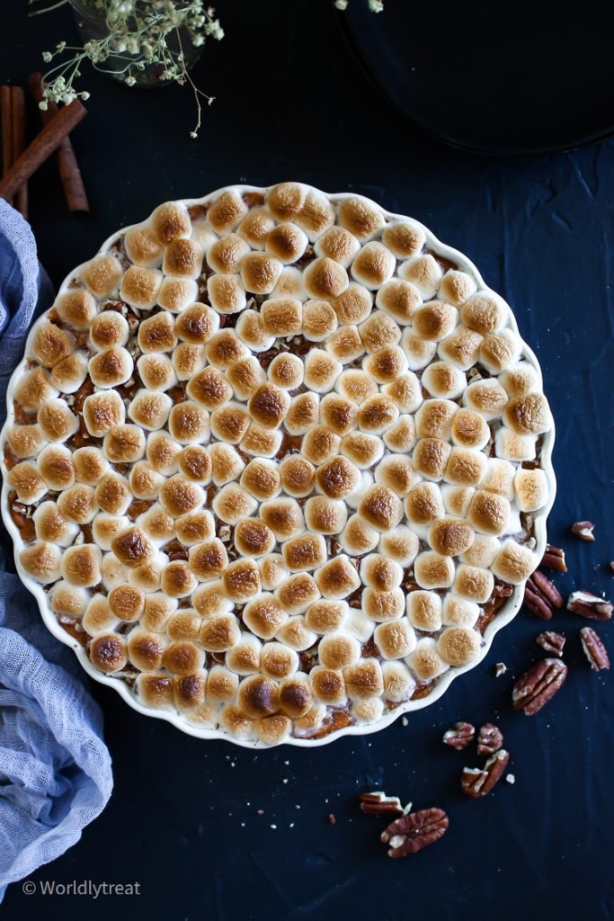 Brown Butter Sweet potato casserole with marshmallow-06