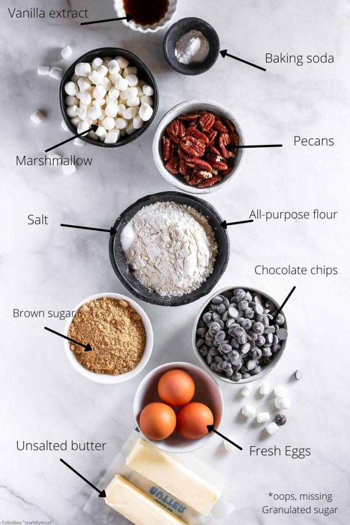 ingredients for skillet cookies