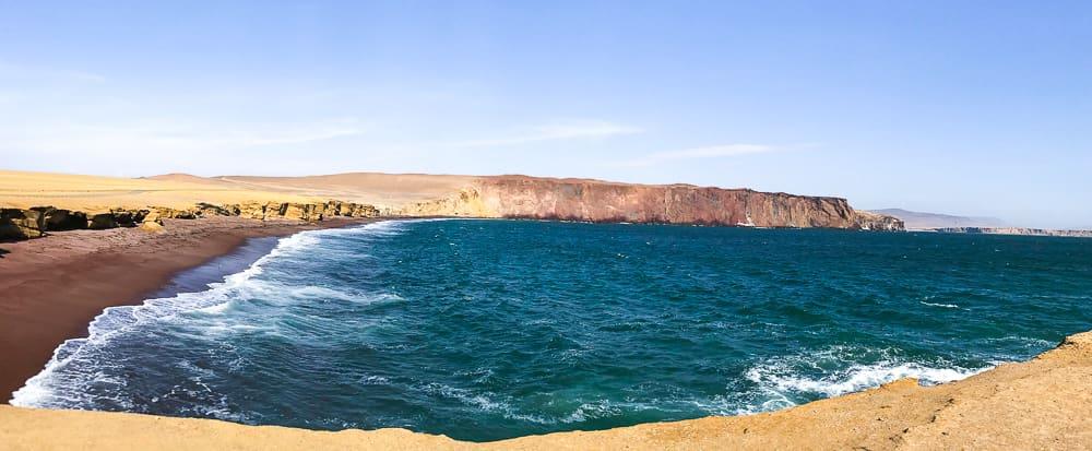 la playa roja red beach paracas national reserve peru