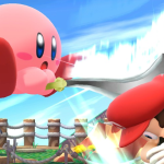 kirby hitting mario