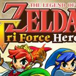 green, red and blue links on the cover art for triforce heroes
