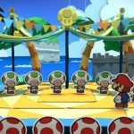 the five fun guys with mario in a screen from paper mario color splash