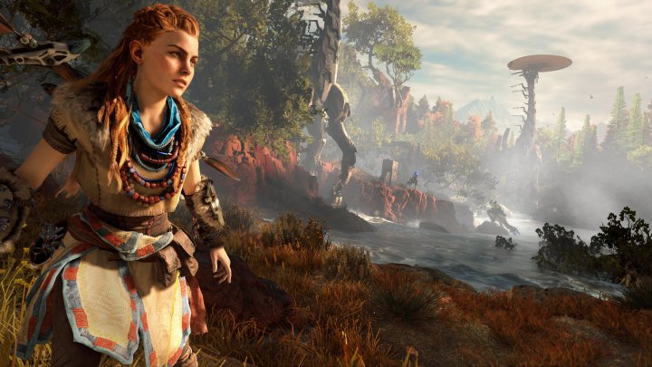 aloy with a vast landscape