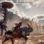 aloy rides a mechanical beast