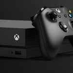product shot of the xbox one x and controller from microsoft pr