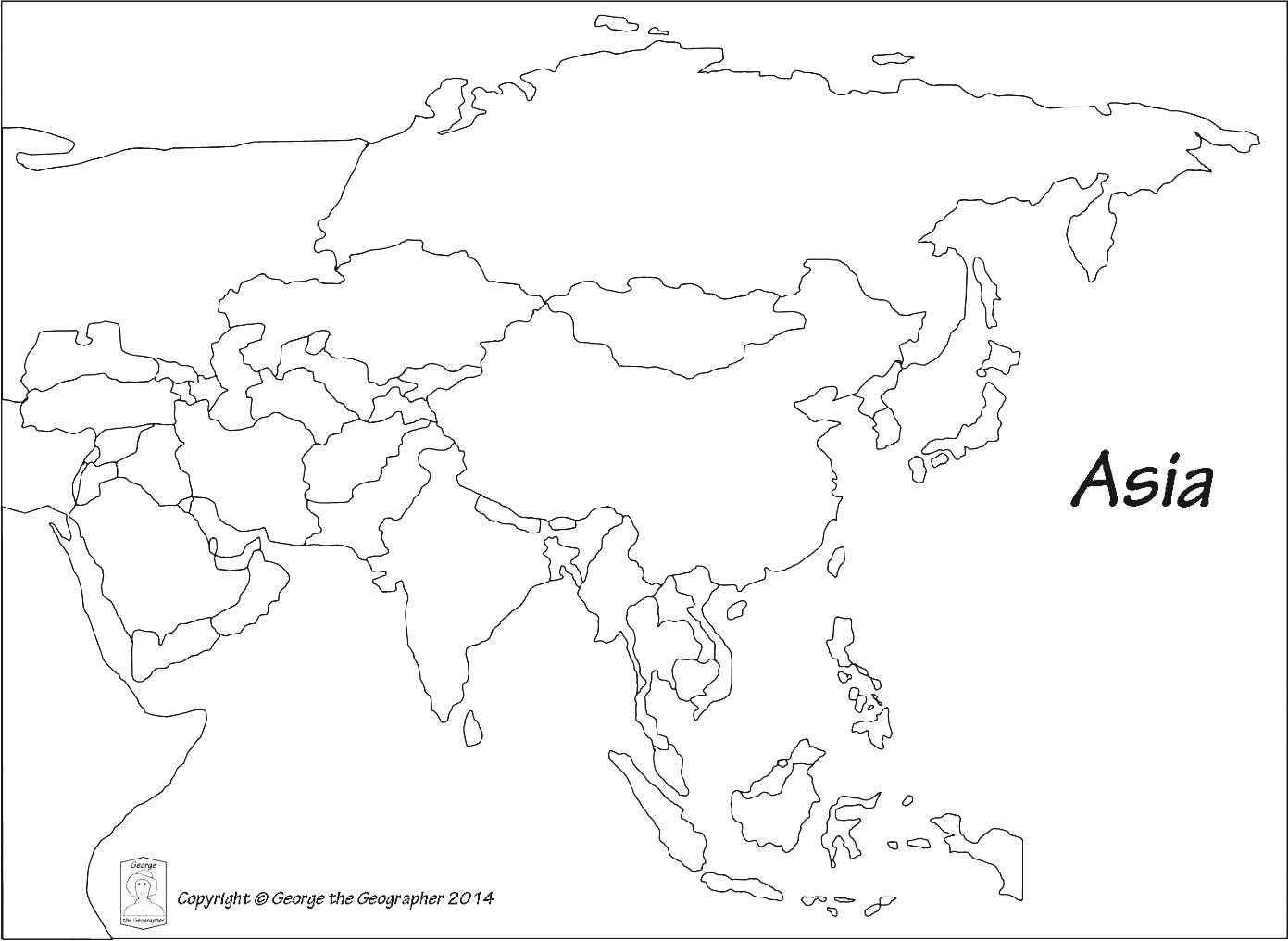 Free South Asia Map With Countries