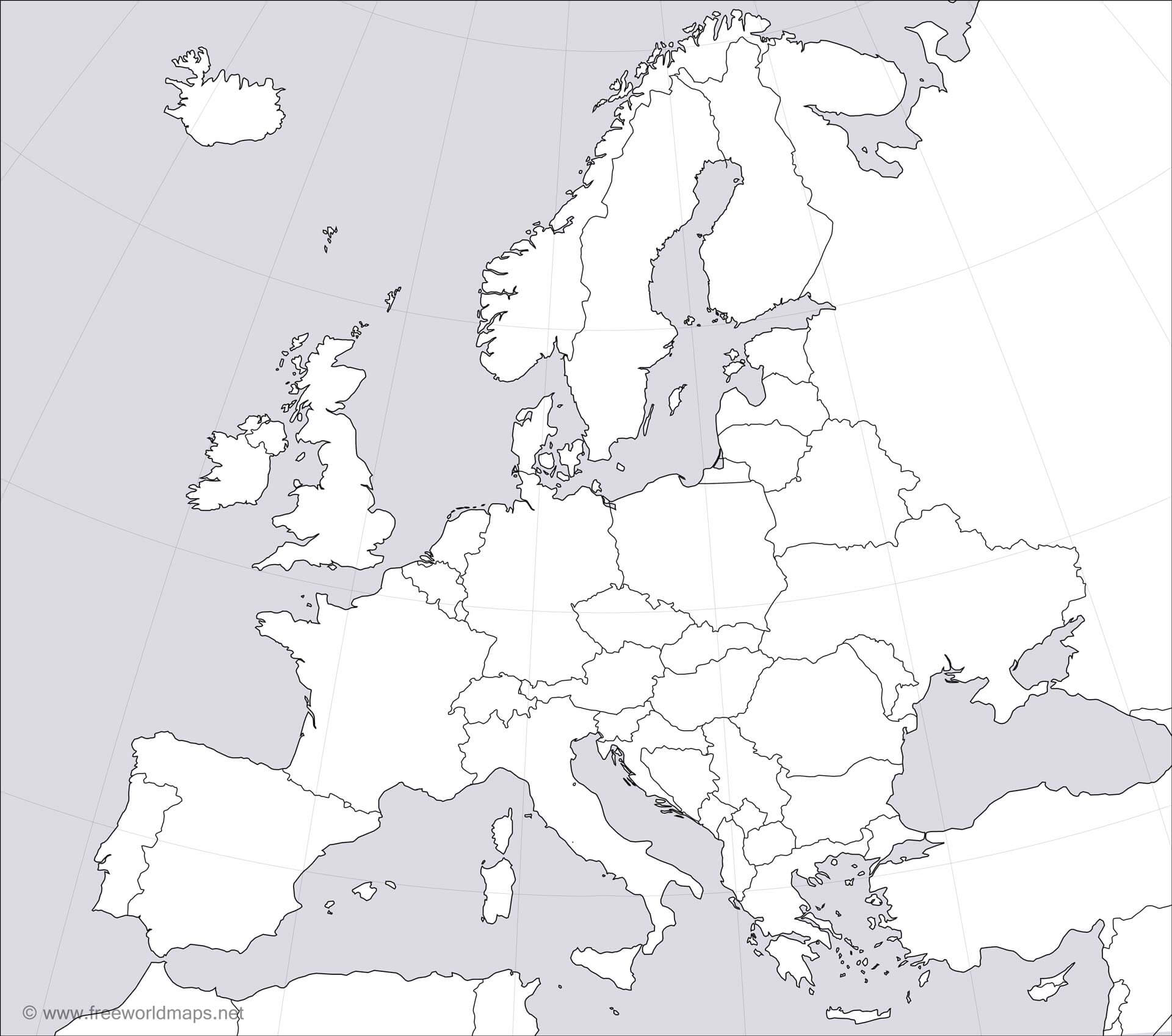 Full Large Hd Blank Map Of Europe