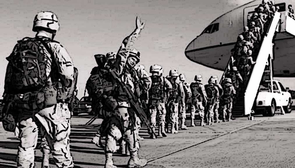 US troops leave Afghanistan