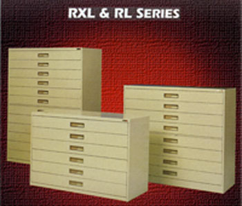 Lateral Microfilm Cabinet for roll film