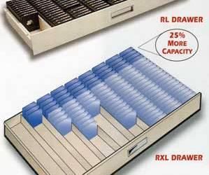Russ Bassett Microfilm Cabinets Provide Maximum Filing Density