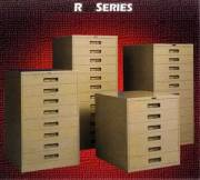 Russ Bassett Microfilm Cabinets With Powdercoat Finishes
