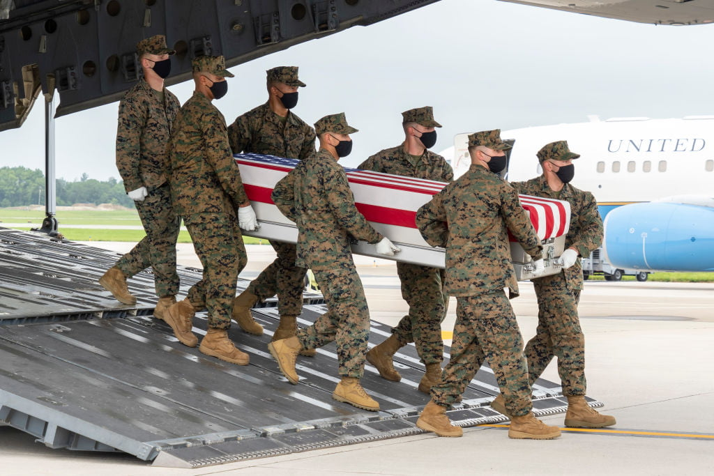 Funeral services have been held in Kovina for the Marines killed in Afghanistan