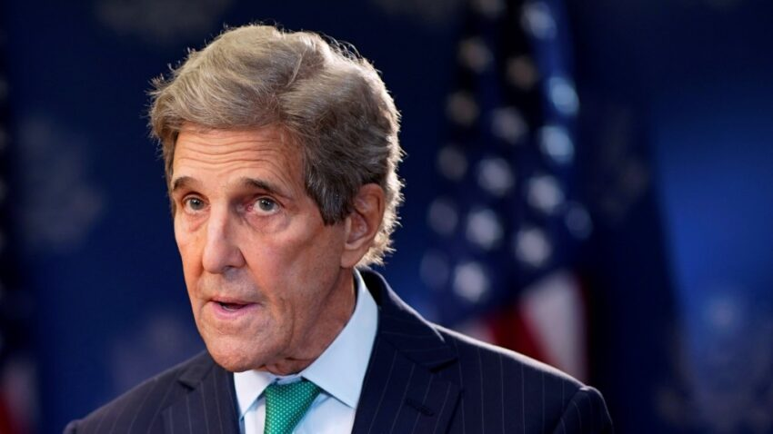AP interview: Kerry says world lacks climate target