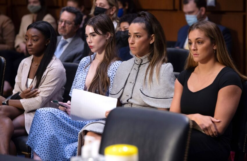 Gymnasts Biles, Maroney, Raisman and Nichols ask Congress to dissolve Olympic committee's board of directors