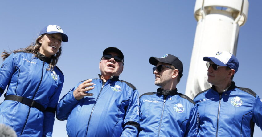 In a Blue Origin rocket, William Shatner finally goes to space