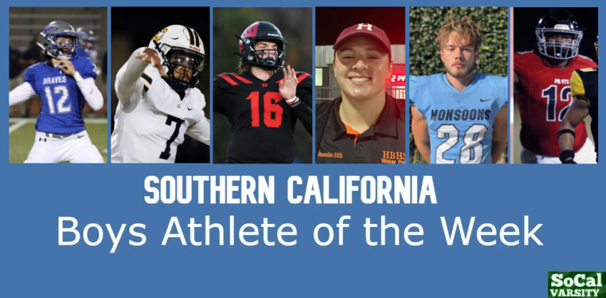 VOTE: Southern California Boys Athlete of the Week, October 15