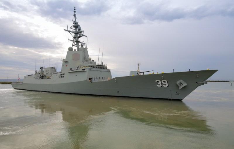 Australia receives first air warfare destroyer
