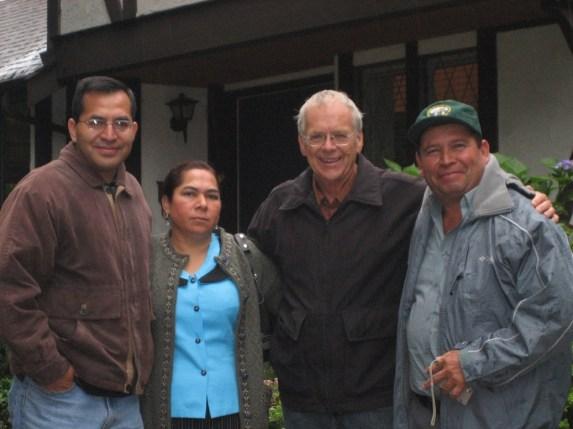 (l to r) Edwin Escuto, Senia, Michael Newman and Victorino