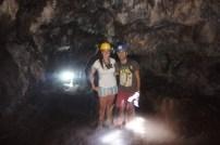 Walking through the dark tunnel