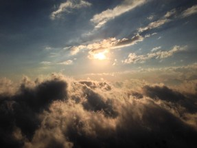 Sunsetting over the clouds