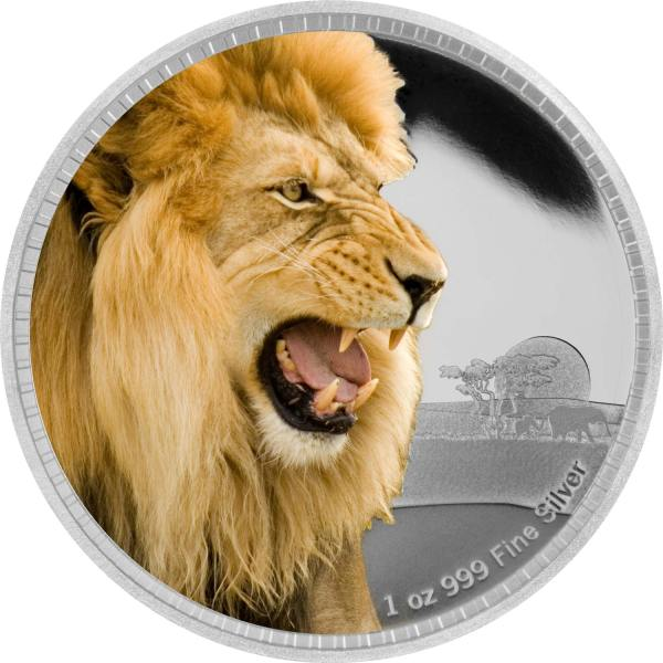 2016 Lion Silver 1oz Coin Rev