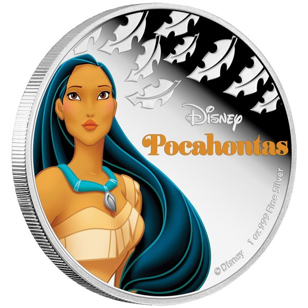 2016 Disney Princess Pocahontas 1oz Silver Coin Reverse