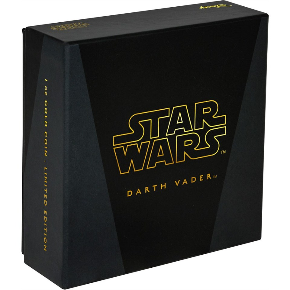 2016 Star Wars Darth Vader 1oz Gold Coin Box