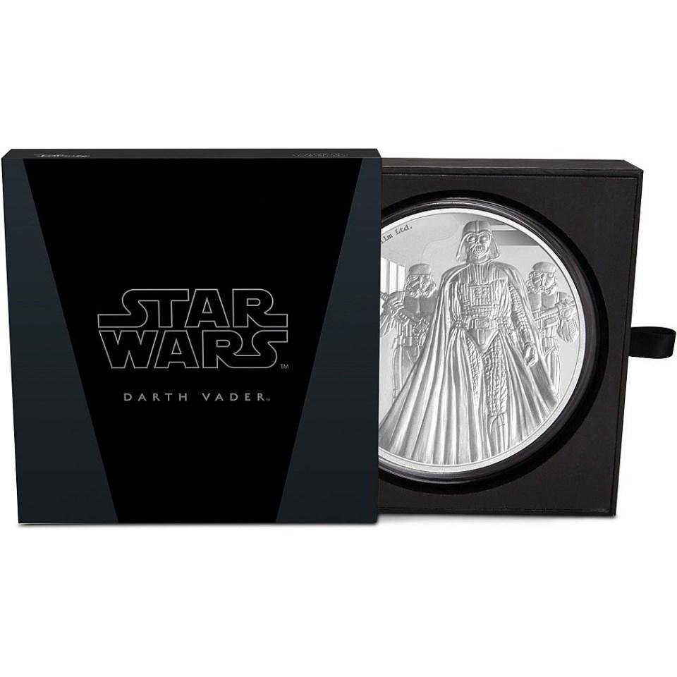 2016 Star Wars 1kg Silver Darth Vader Coin In Box