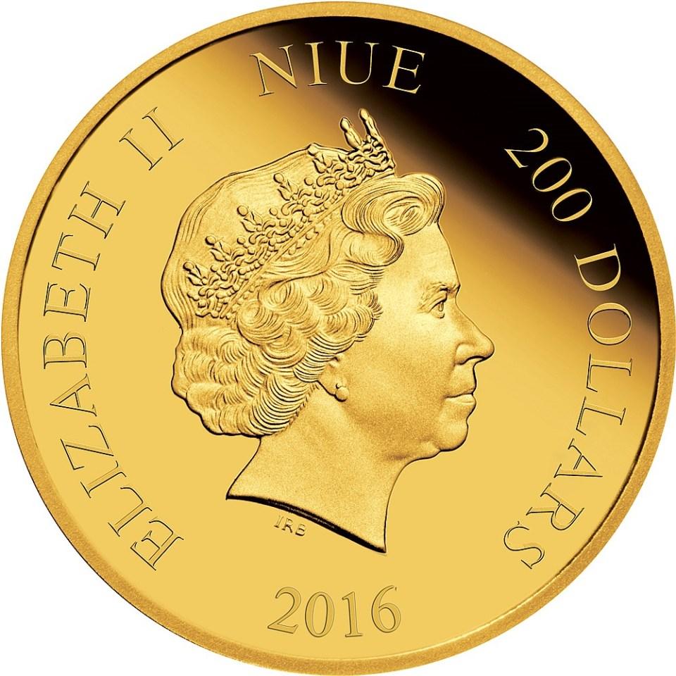 2016 Star Wars $200 1oz Gold Coin Obverse