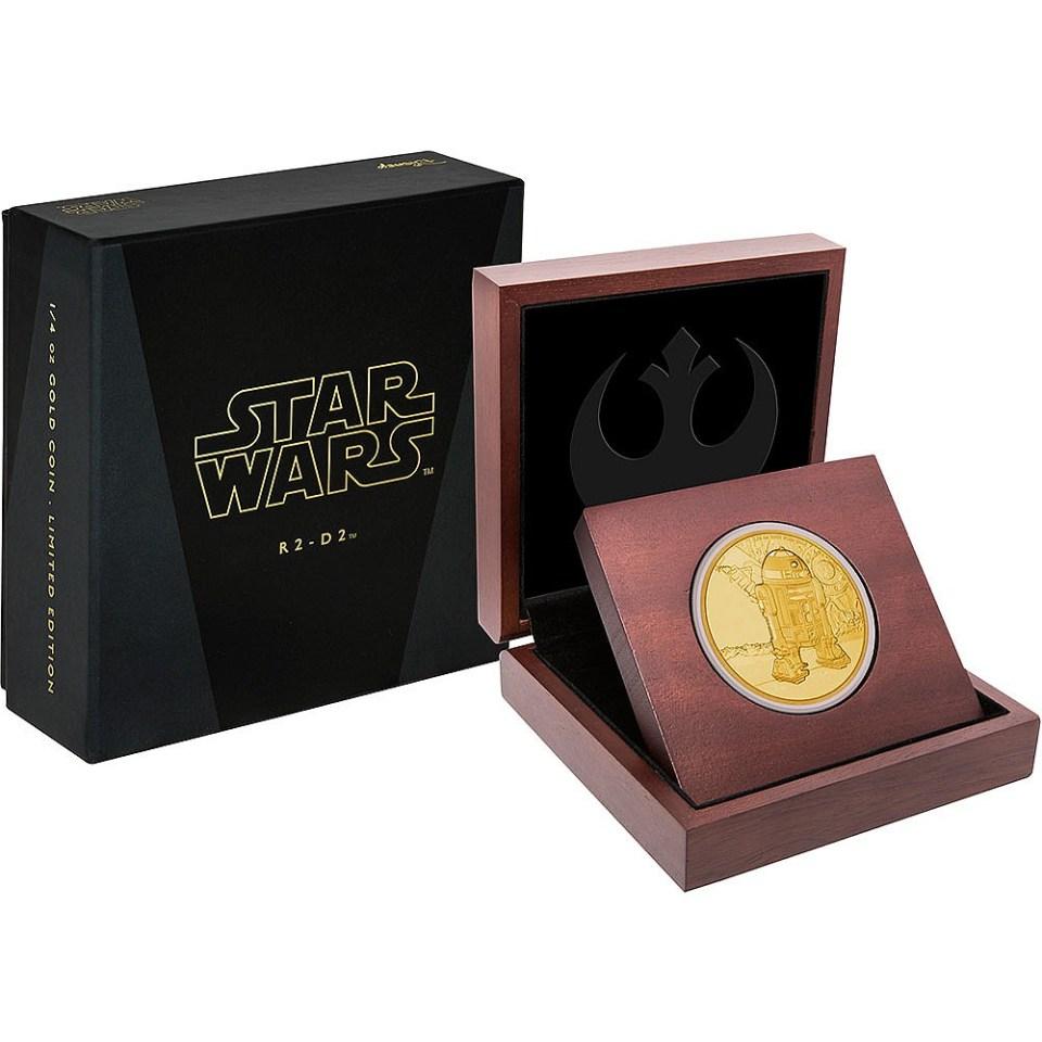 2016 Star Wars R2-D2 1oz Gold Coin