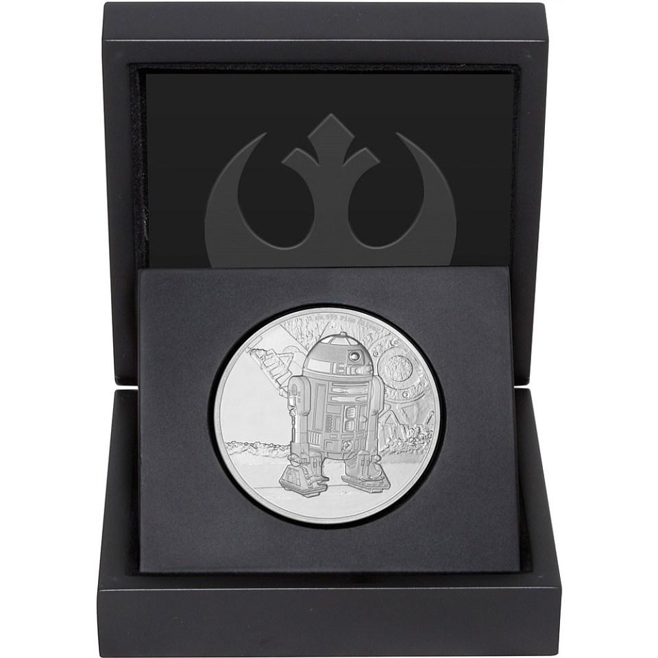 2016 Star Wars R2-D2 1oz Silver Coin in Display Box