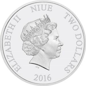 2016 Star Wars $2 1oz Silver Coin Obverse
