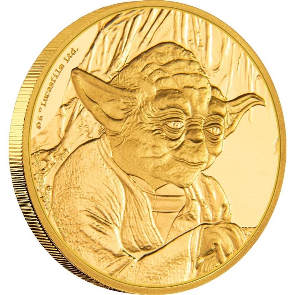 2016 Star Wars Yoda 1/4oz Gold Coin Reverse