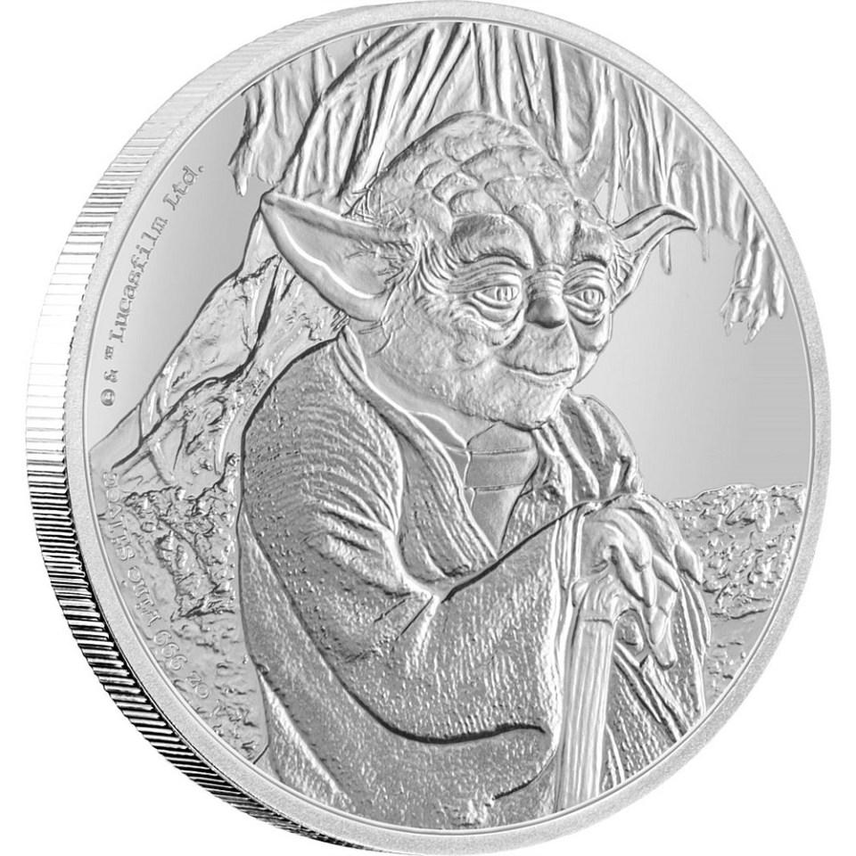 2016 Star Wars Yoda 1oz Silver Coin Reverse