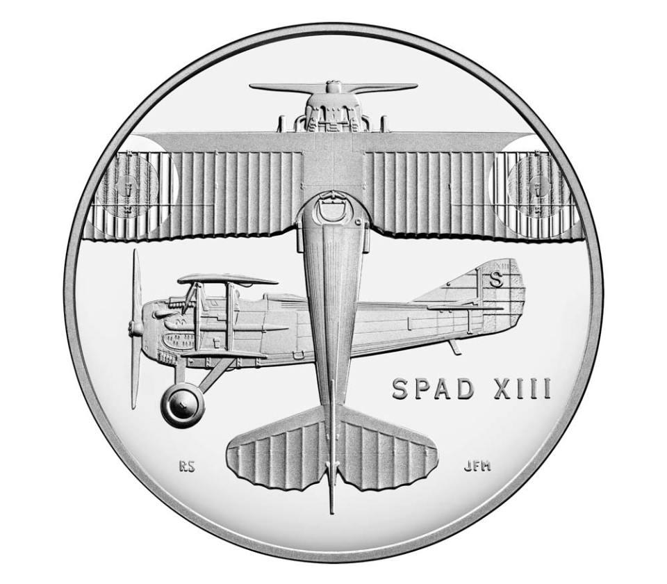 USA WWI Centennial Air Service Silver Medal Obverse